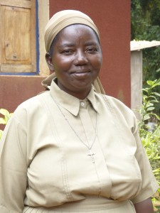 Tanzanian Grail member, Feliciana. She is a trained Montessori teacher and is caretaker of all the young girls.